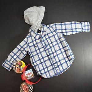 4/$25. Baby Gap Blue & Cream Hoodie Shirt